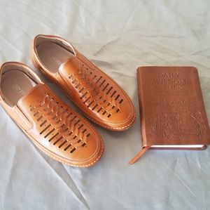 Stacy Adams Tan Leather Driving Moccasins 9.5